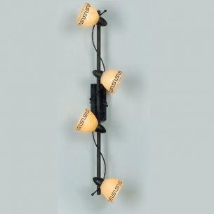 Deckenleuchte im Landhausstil, 4 flammig, inklusive Leuchtmittel