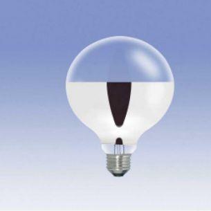 G95 ECO Globe, Bodenspiegel-silber, E27, 42 Watt, Dm: 95mm 1x 42 Watt, C, warmweiß (< 3.500 Kelvin), 42 Watt, 2.000 Std., 2.000 Std., 2.000 Std., 60,00 Watt, 550,0 Lumen, 135,00 mm