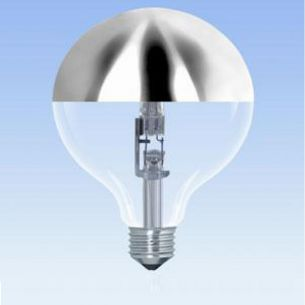 G95, Globe, Kopfspiegel-silber, E27, ECO 42 Watt entspricht 60 Watt 1x 42 Watt, 42 Watt, 520,0 Lumen
