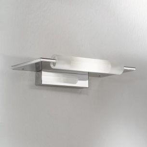 Leuchte in Chrom mit satiniertem Glas 1x100Watt - ideal als Spiegelleuchte!