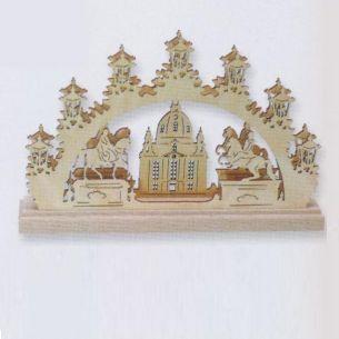 Weihnachtsbeleuchtung -  Hochwertiges aus dem Erzgebirge - 3-D-Mini-Schwibbogen - Motiv Christi Geburt oder Frauenkirche
