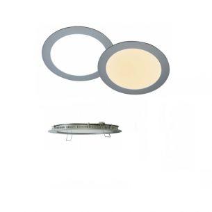 Außen- LED-Lichtpanel in Silber mit Warmweißem oder Tageslichtweißem Licht 16W IP44 inklusive Vorschaltgerät