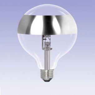 G95, Globe, Ringspiegel-silber, E27, ECO 28 Watt entspricht 40 Watt 1x 28 Watt, 28 Watt, 40,00 Watt, 320,0 Lumen