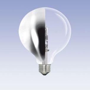 G95 Globe, Seitenspiegel-silber, E27, ECO 42 Watt entspricht 60W, Durchmesser 95mm
