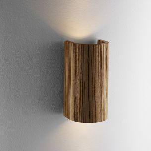 Effektvolle Beleuchtung mit Up&Downleuchte TUBE - in Nußbaum oder Zebrano