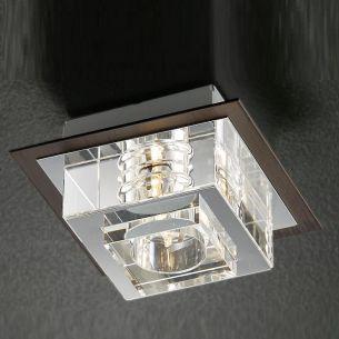 Leuchte, schwere Glasqualität, inklusive Energiesaver-Leuchtmittel