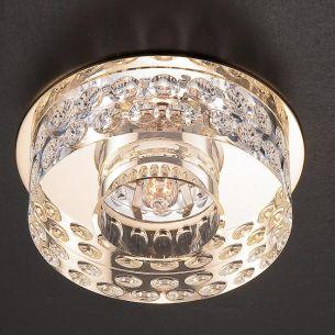 Einbauleuchte in Chrom oder Gold - schwere Glasqualität - inklusive Energiesaver-Leuchtmittel