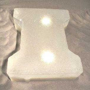 Leuchtender Pflasterstein - LIGHT STONE NORMA klar - H- oder S-Form - 2 Leuchtmittelstärken