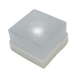 Pflasterstein Light Stone Beton 8 x 8 x 7 cm, Glasklar, 1 x 0,3W 1x 0,3 Watt, klar