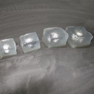 Leuchtender Pflasterstein - LIGHT STONE CRISTAL in 50x60x50mm - LED Weiß, 1 x 0,3 Watt 1x 0,3 Watt, weiß