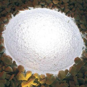 Leuchtender Pflasterstein - LIGHT STONE RUND - Ø130 mm x Höhe 80 mm - weiß durchgefärbt oder 4 Farbvarianten
