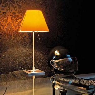 Designer Tischleuchte COSTANZINA von LUCEPLAN - Schirm in verschiedenen Farben dazu wählbar
