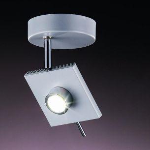runder LED Strahler in Grau grau