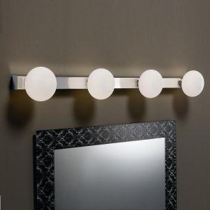 Badleuchte, IP44, 4 flammig, ideale Badbeleuchtung mit Energiesparleuchtmittel