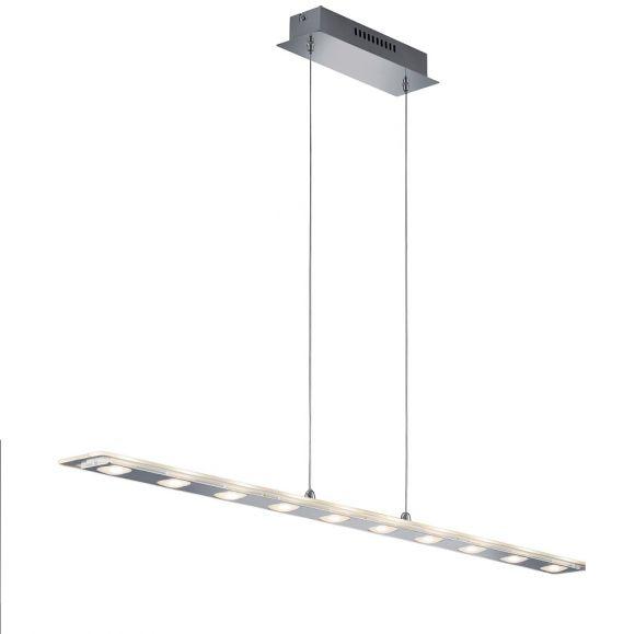 led pendelleuchte chrom glas transparent klar 10 flg wohnlicht. Black Bedroom Furniture Sets. Home Design Ideas