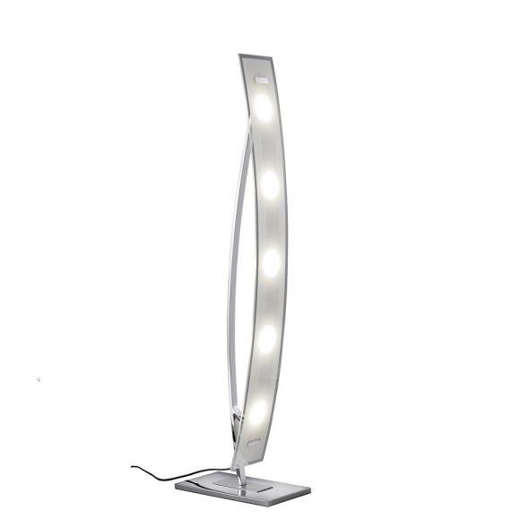 led stehleuchte mit fu dimmer chrom glas klar satiniert wohnlicht. Black Bedroom Furniture Sets. Home Design Ideas
