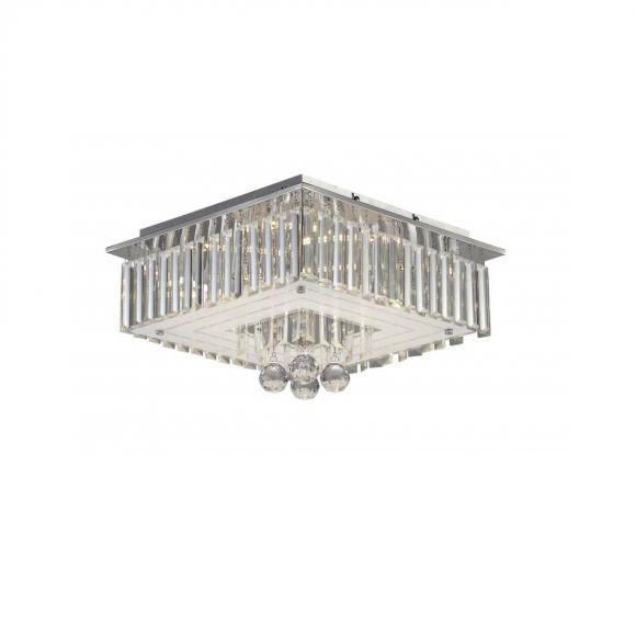 deckenleuchte led kristall chrom inklusive led 6 x 3 watt 1170 lumen 3000 kelvin wohnlicht. Black Bedroom Furniture Sets. Home Design Ideas