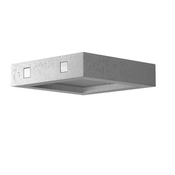 moderne deckenleuchte beton quadratisch inklusive. Black Bedroom Furniture Sets. Home Design Ideas