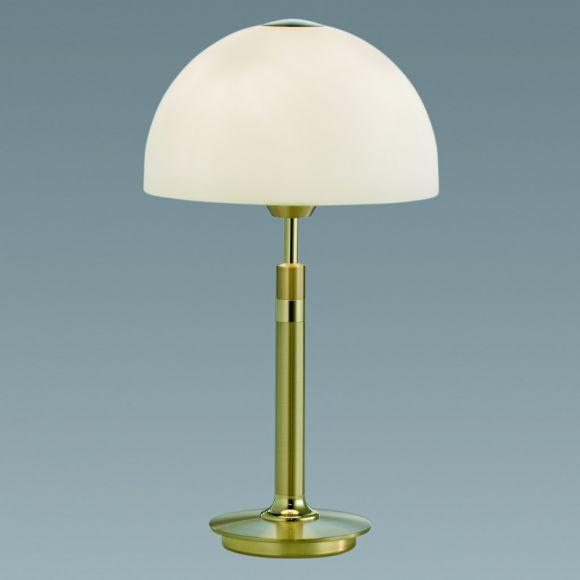 B+M Tischleuchte - Höhe 36cm - aus massivem Messing in 2 Ausführungen erhältlich - inklusive Halogenleuchtmittel
