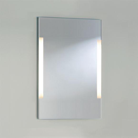 beleuchteter spiegel mit seitlichem lichtaustritt 90x60cm wohnlicht. Black Bedroom Furniture Sets. Home Design Ideas