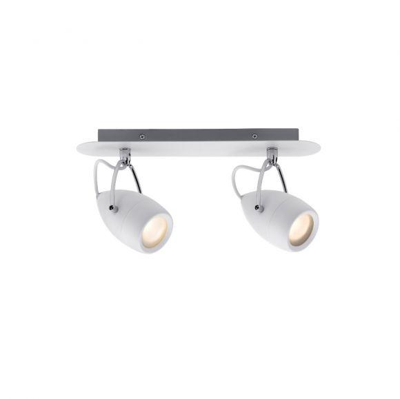 led strahler 2 x3 5w feuchtraum geeignet wei chrom wohnlicht. Black Bedroom Furniture Sets. Home Design Ideas