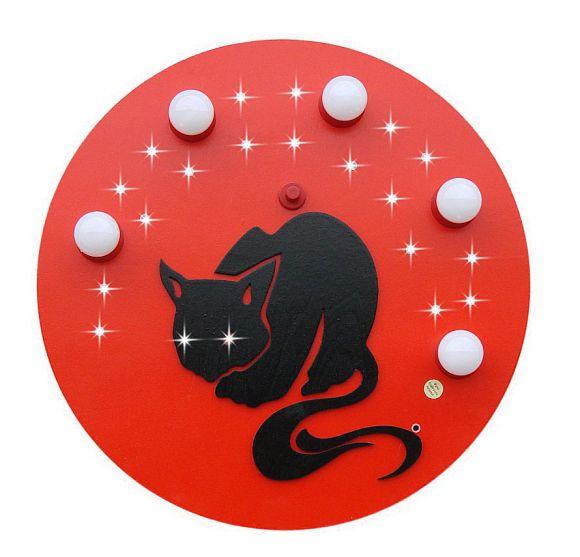 Deckenlampe BLACK CAT mit LED-Sternen