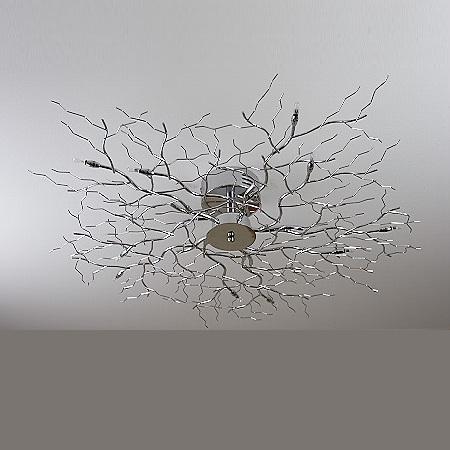 deckenleuchte treelamp chrom mit 80cm durchmesser wohnlicht. Black Bedroom Furniture Sets. Home Design Ideas
