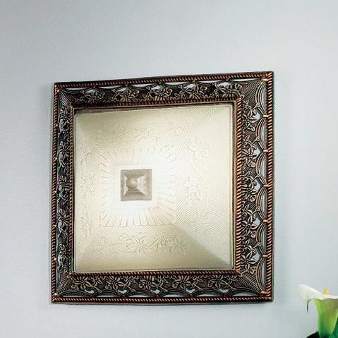 eckige Biedermeierleuchte, ewige Eleganz mit wirkungsvollem Kontrast für Wand oder Decke