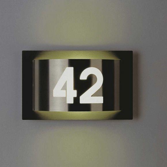 Außenleuchte Mit Hausnummer : aussenleuchte mit hausnummer aus edelstahl wohnlicht ~ Buech-reservation.com Haus und Dekorationen