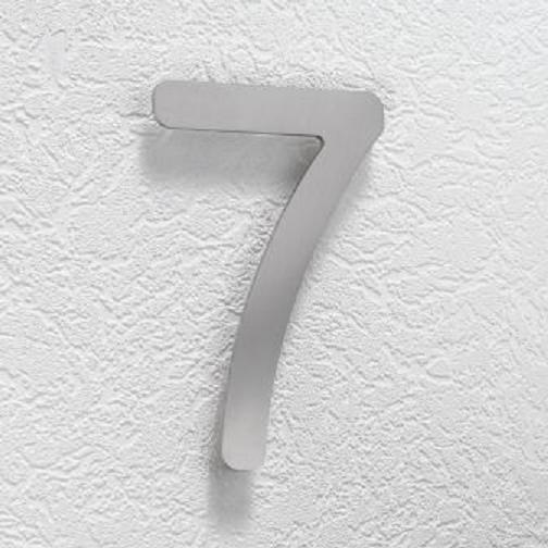 Hausnummer 7 aus Edelstahl, klein
