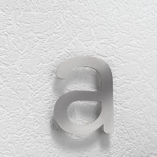 Hausnummer a aus Edelstahl, klein