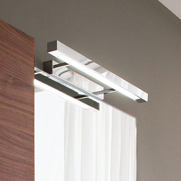 Badbeleuchtung  Bilderleuchte Spiegelleuchte in matt  Silberfarbig- inklusive Leuchtstoffröhre 24W