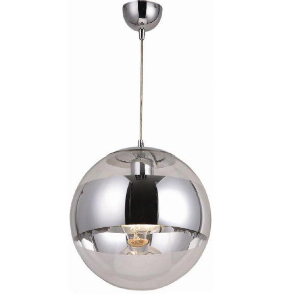 Pendelleuchte, Glas und Chrom in futuristischer Kombination, in 2 Größen wählbar