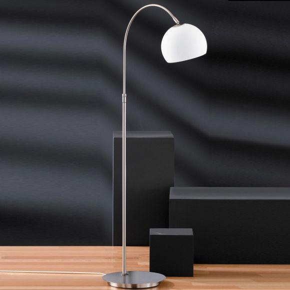 verstellbare bogenleuchte mit opalglas 2 oberfl chen wohnlicht. Black Bedroom Furniture Sets. Home Design Ideas
