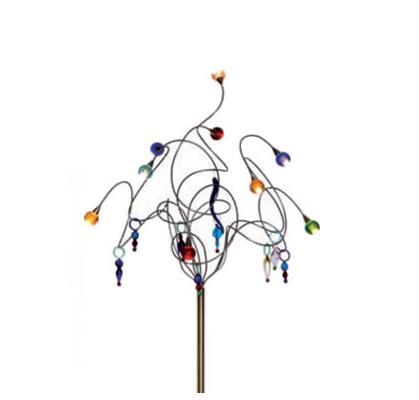 handgefertigte Design-Stehleuchte STRAWBERRY mit Murano Glaskugeln