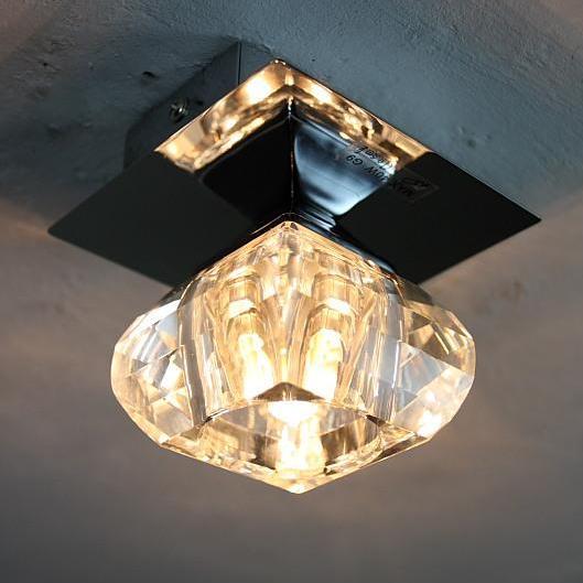 Dekorative Deckenleuchte mit Kristallglas -- inkl. Leuchtmittel