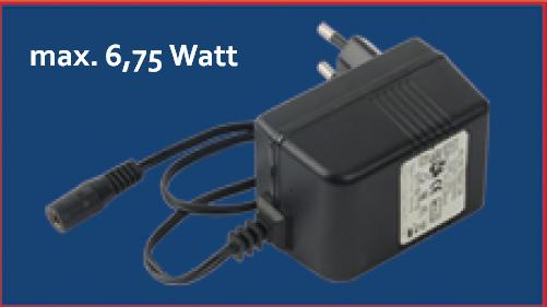 Vorschaltgerät / Steckertrafo max. 6,75 Watt, nur für Lichtleisten DEKOLED und STALED
