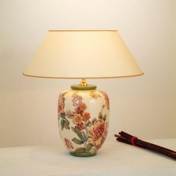 hockerleuchte englische rose handbemalte farbenreiche. Black Bedroom Furniture Sets. Home Design Ideas