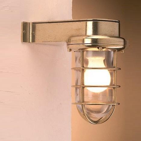 maritime aussenwandlampe in poliertem messing wohnlicht. Black Bedroom Furniture Sets. Home Design Ideas