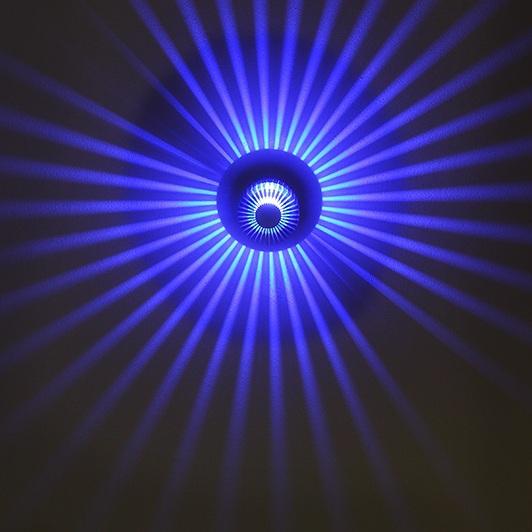 LED Wand- und Deckenleuchte für den Innen- und Außenbereich mit blauer LED, 3 Watt