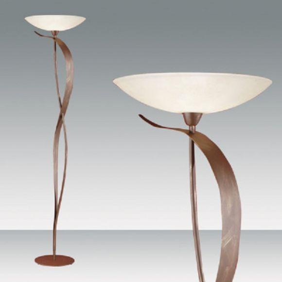 Fluter, Design im Landhauslook mit schönem Scavo-Strukturglas, mit Dimmer