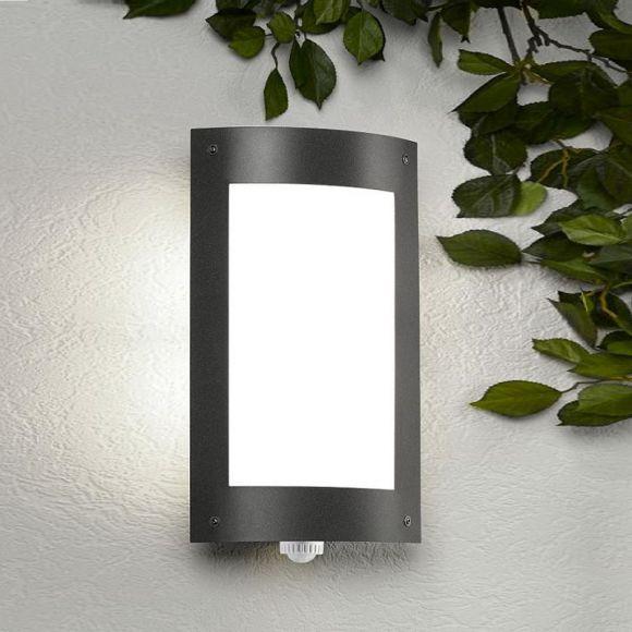 au enwandleuchte mit bewegungsmelder aus stahlblech wohnlicht. Black Bedroom Furniture Sets. Home Design Ideas