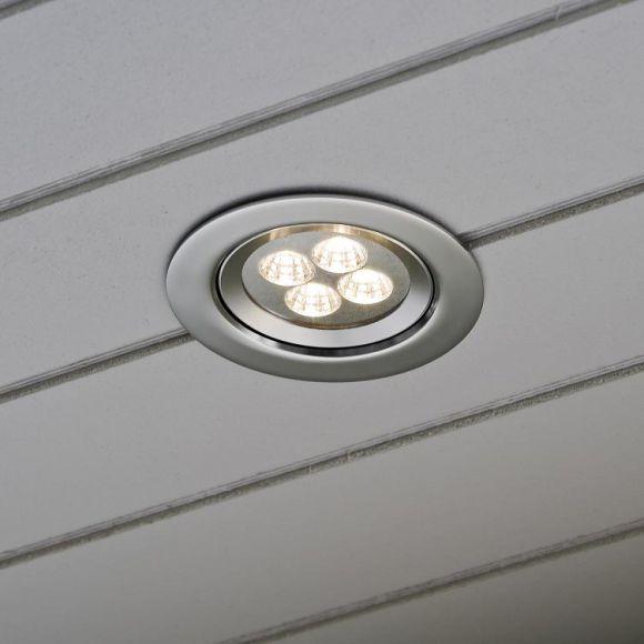 LED Einbaustrahler mit 4 High Power LEDs, Alumininum, inklusive Leuchtmittel
