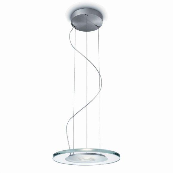 LED-Pendelleuchte in  Aluminium gebürstet, 2700 Kelvin, 6,5Watt
