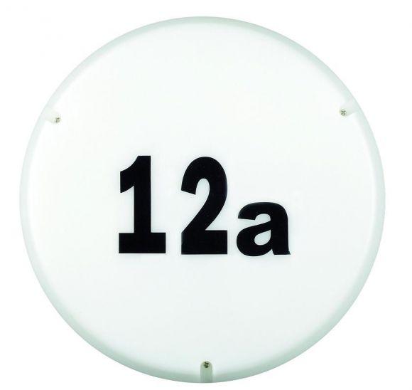Runde Wand- oder Deckenleuchte, geeignet für Hausnummern