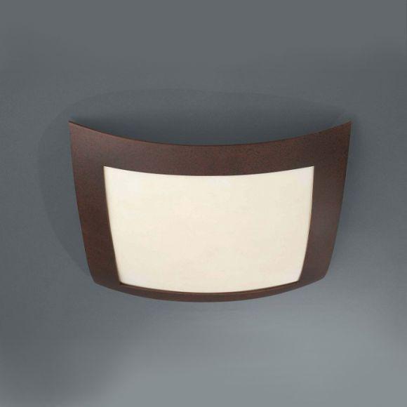 Schlichte rustikale Deckenleuchte für einen gleichmäßigen Lichtschein - inklusive Energiesparleuchtmittel