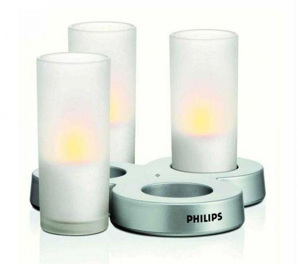 CandlelLights im 3er Set - überall einsetzbar - Zum Ein- und Ausschalten Kerze einfach kippen