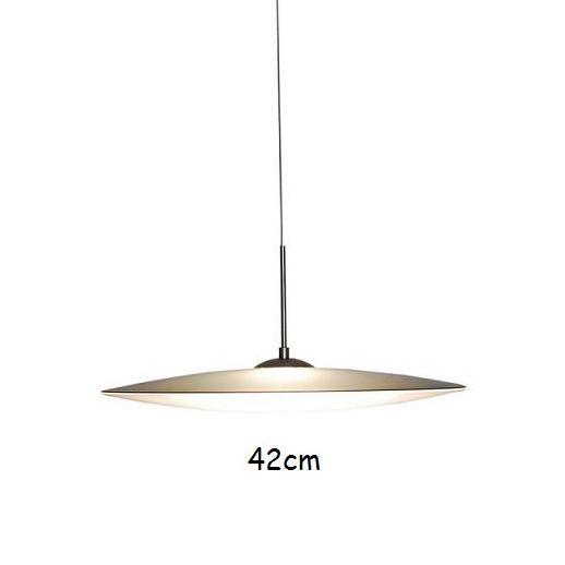 pendelleuchte mit grauem schirm und wei em opalglas 42cm. Black Bedroom Furniture Sets. Home Design Ideas