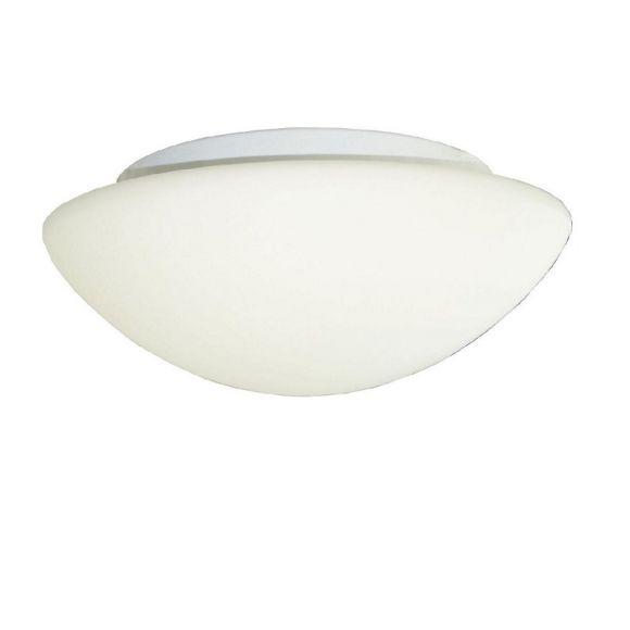 Deckenleuchte aus weißem Opalglas, in drei Größen wählbar