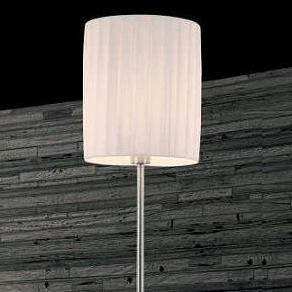 David Pompa Design-Stehleuchte mit Touchdimmer, Schirm  aus weißem Plissee
